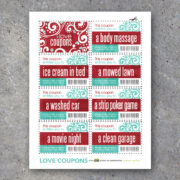 Love Coupons For Him – Printable Instant Download