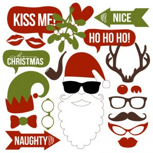 Christmas Photo Booth Props Collection – Printable Instant Download