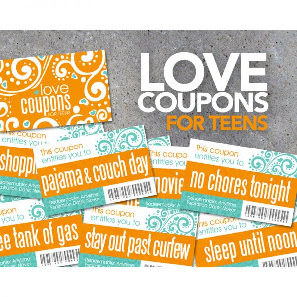 Love Coupons for Teenagers