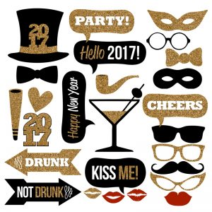 2017 New Year's Eve Photo Booth Props Collection – Printable Instant Download