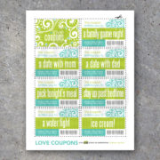 Love Coupons For Kids – Printable Instant Download