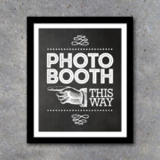 Photo Booth Sign and Directional Signs – Printable Instant Download