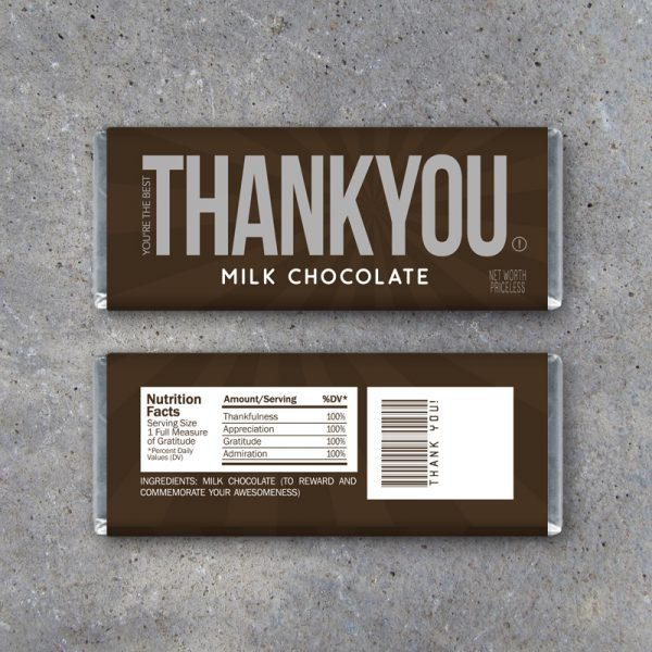 Thank You Candy Bar Wrappers – Printable Instant Download