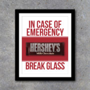 In Case of Emergency Break Glass Wall Art – Printable Instant Download