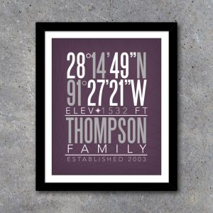 Home Coordinates Wall Art