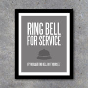 Ring Bell For Service DIY Print