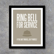 Ring Bell For Service Laundry Room Decor
