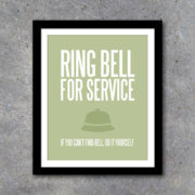 Ring Bell For Service Kitchen Wall Art