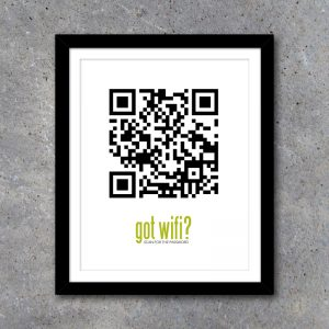 Got Wifi QR Code Wall Art Home Decor