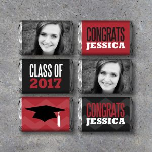 Graduation Photo Mini Candy Bar Wrappers