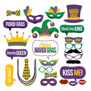 Mari Gras Party Photo Booth Props