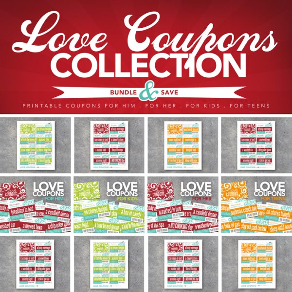 Love Coupon Collection Printable DIY