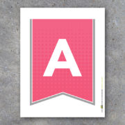 Pink and Gray Alphabet Banner