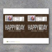 Custom Happy Birthday Photo Candy Bar Wrapper