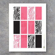 Pink and Zebra Stripes Blank Mini Candy Bar Wrappers