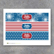 Printable DIY Election Campaign Water Bottle Labels