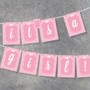 Little Princess Baby Shower Party Decor Alphabet Banner