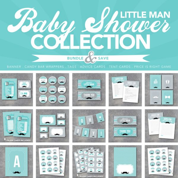 Little Man Baby Shower Collection