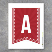 Red Alphabet Banner Letters