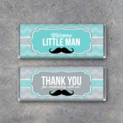 Little Man Baby Shower Candy Bar Wrappers
