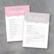 Little Princess Baby Shower Advice Cards
