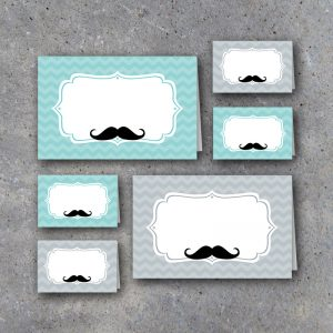 Little Man Baby Shower Tent Cards