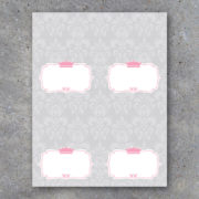 Princess Crown Baby Shower Tent Cards