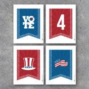 Campaign Party Decor Alphabet Banner