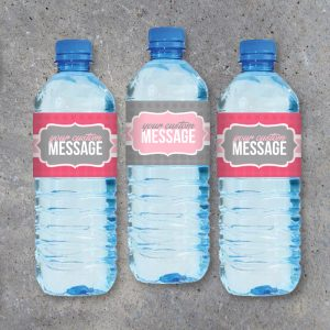 Custom Water Bottle Printable Labels