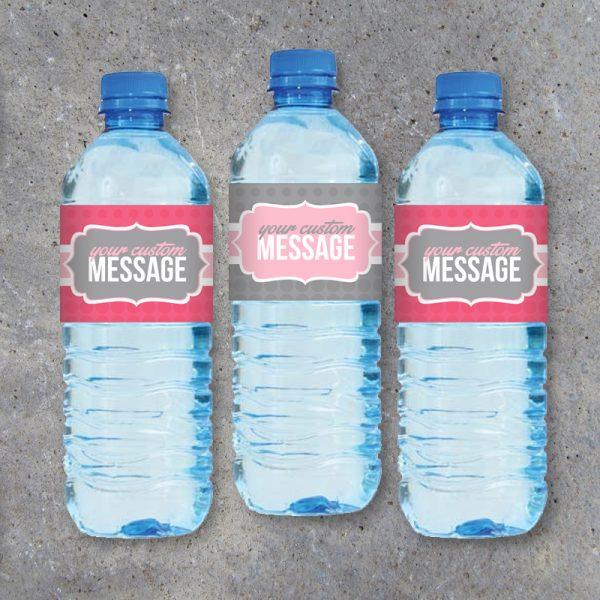 Custom Water Bottle Printable Labels
