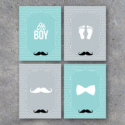 Little Man Baby Shower Printable Banner