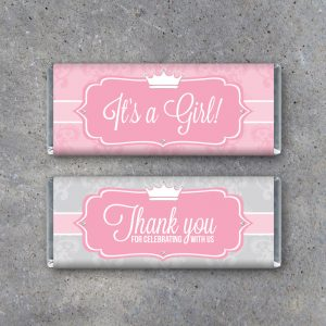 Little Princess Baby Shower Candy Bar Wrappers