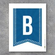 Blue Alphabet Banner Letters