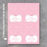 Personalized Baby Shower Tent Cards