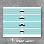 Baby Shower Mustache Baby Food Jar Labels
