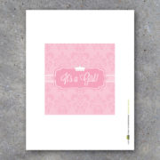 New Baby Girl Baby Shower Candy Bar Wrappers