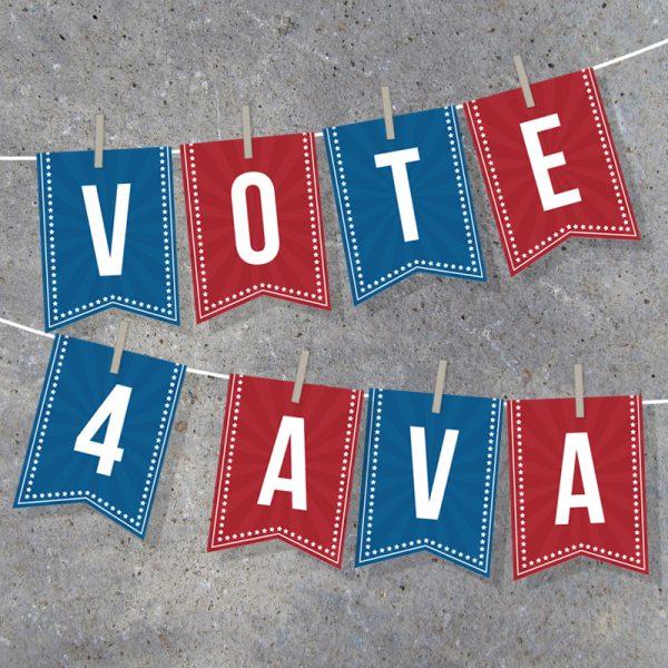 Election Campaign Alphabet Banner
