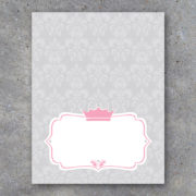 Baby Girl Princess Crown Tent Cards