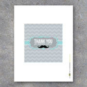 Thank You Mustache Baby Boy Party Favors