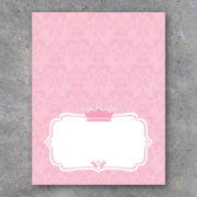 Baby Shower Princess Tent Cards