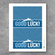 Swimming Good Luck Gift Treat Toppers