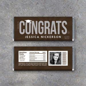 Graduation Congrats Personalized Candy Bar Wrapper