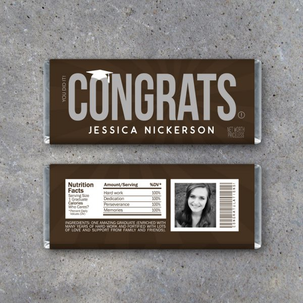 Graduation Congrats Personalized Candy Bar Wrapper