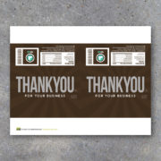 Thank You For Your Business Personalized Candy Bar Wrapper