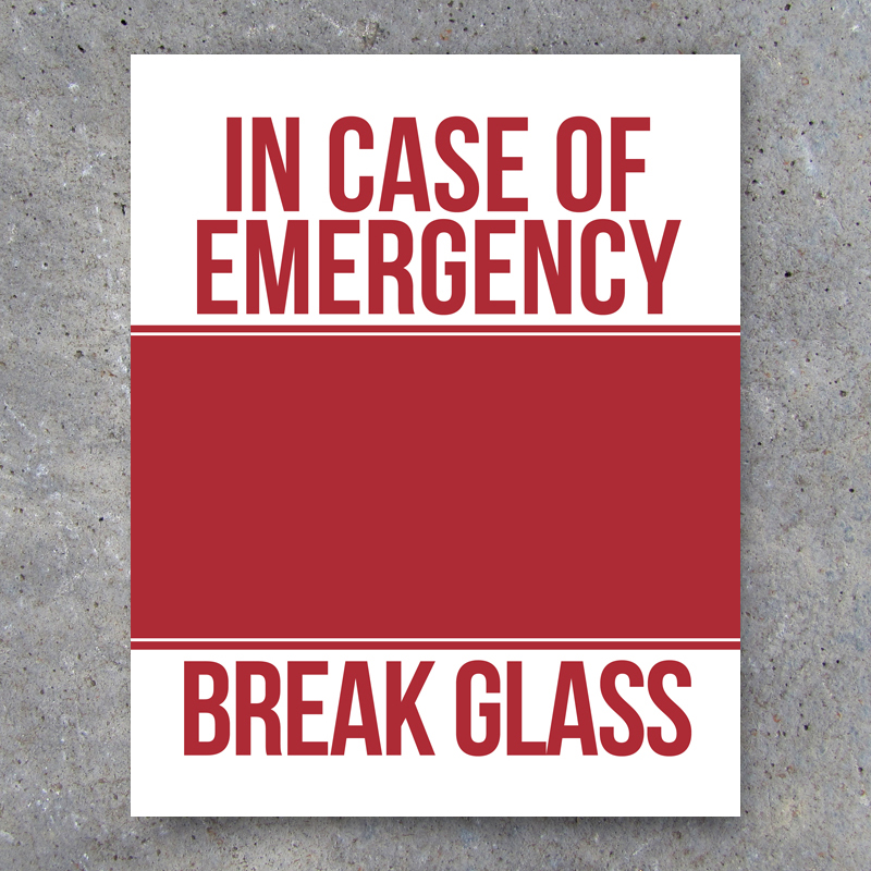 photograph regarding In Case of Emergency Break Glass Printable referred to as In just Circumstance of Unexpected emergency Split Gl Wall Artwork - Printable Prompt Obtain - Studio 120 Underground