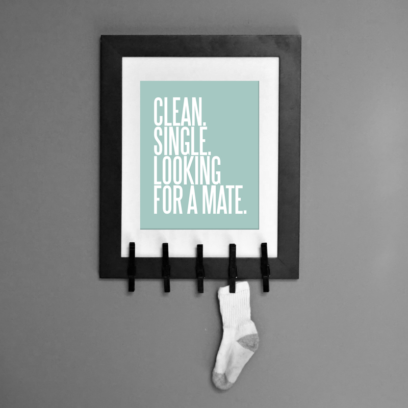 Clean Single Laundry Room Wall Art