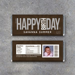 Happy Birthday Photo Candy Bar Wrapper