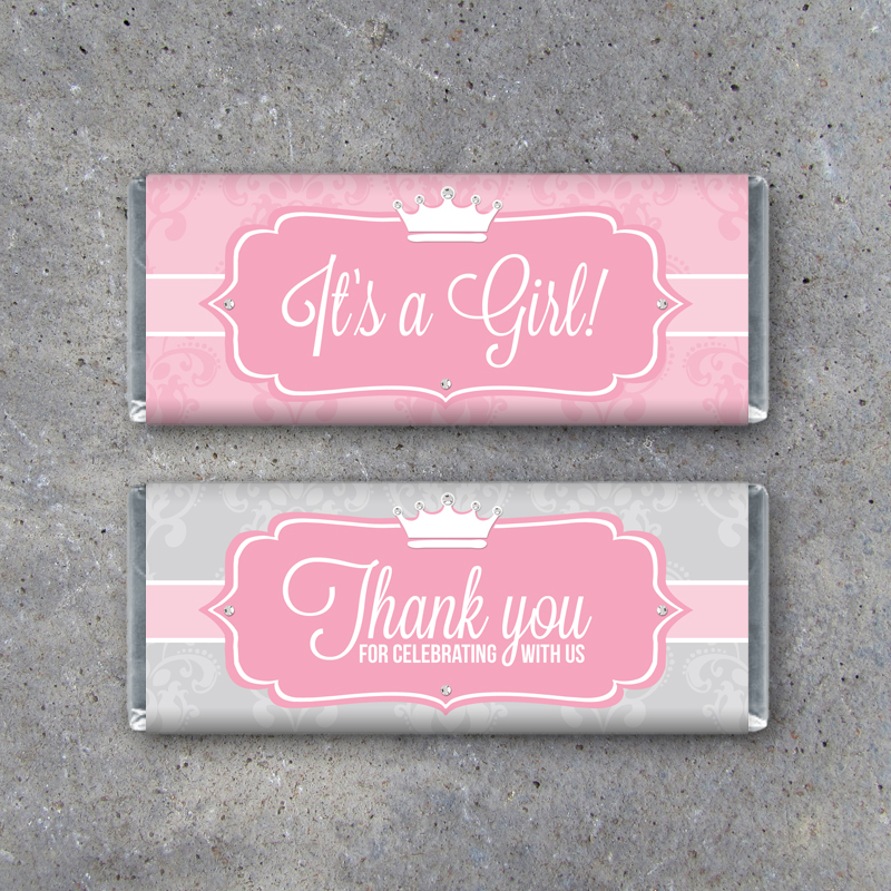 This is a photo of Adaptable Free Printable Baby Shower Candy Bar Wrappers