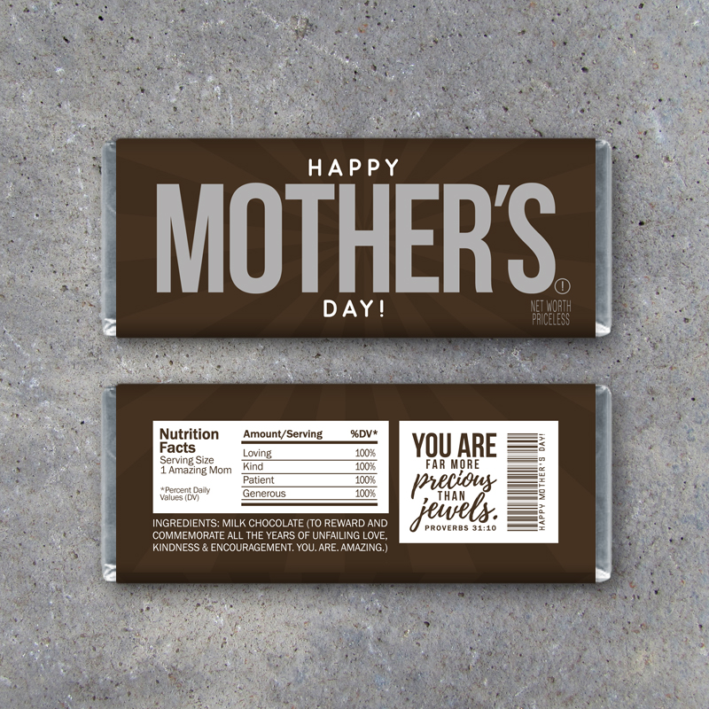 Happy Mother's Day Candy Bar Wrapper