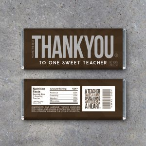 Thank You Teacher Appreciation Candy Bar Wrappers